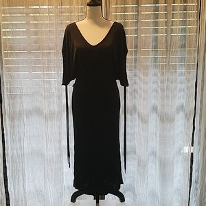 Moschino Black Dress w/ Siver tipped Tassels NWT